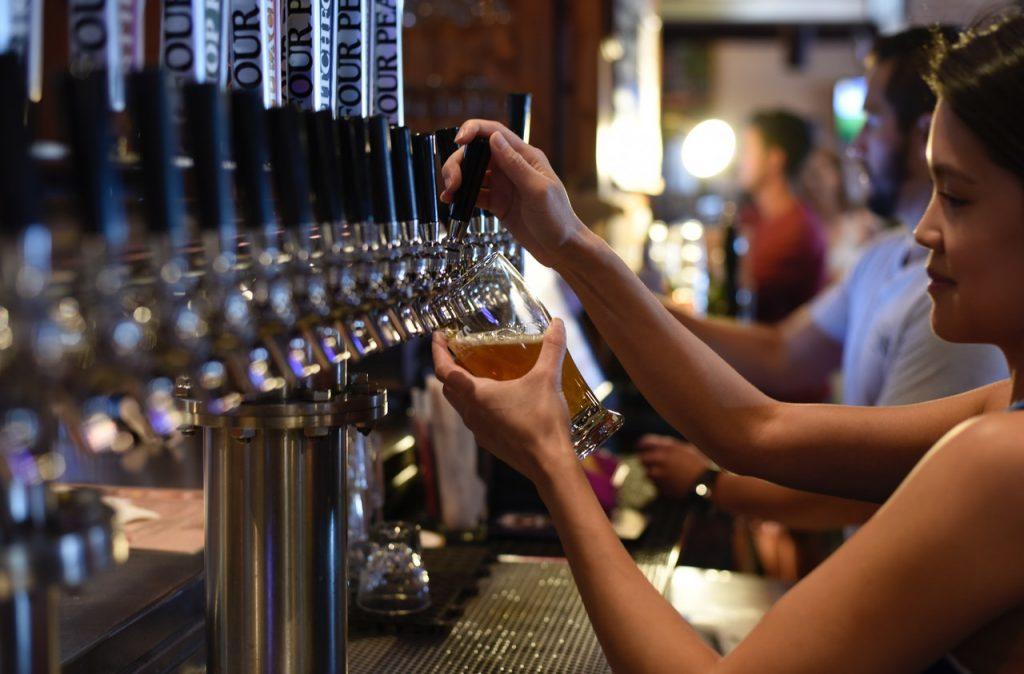Biere belge à la pression